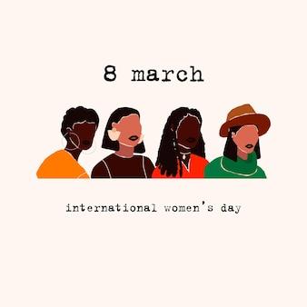 Biglietto per la giornata internazionale della donna dell'8 marzo