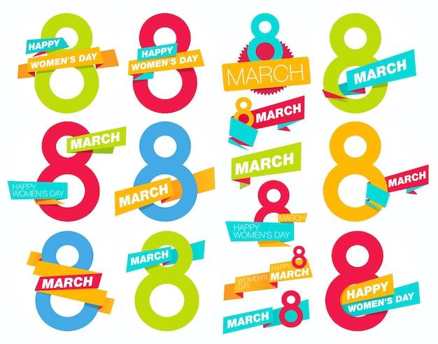 8 marzo giornata internazionale della donna set
