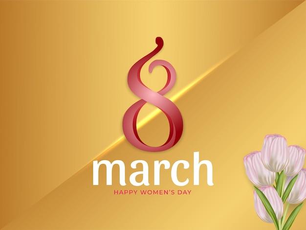 8 marzo carta da parati per la festa della donna con fiore