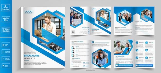 8 pagine abstract brochure designcompany profile brochure design brochure halffold brochure bifold