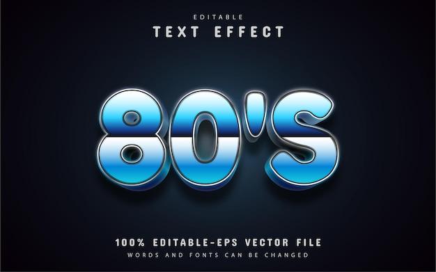 Effetto testo blu retrò anni '80