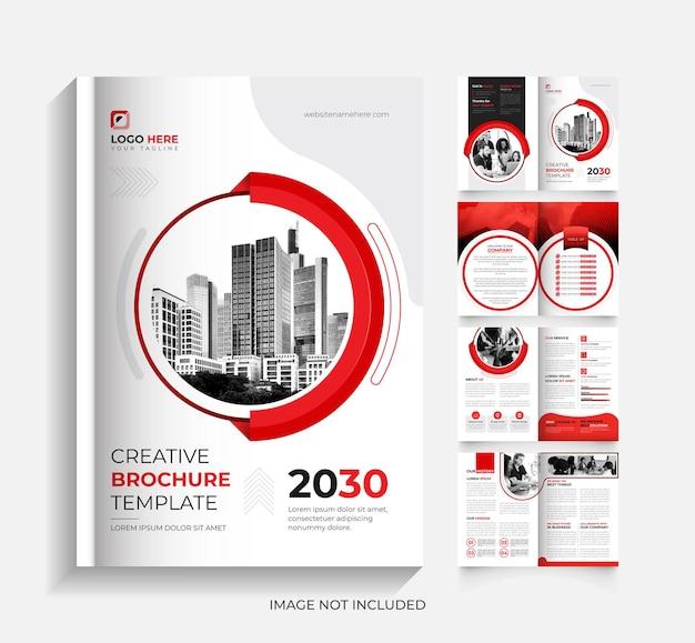 Modello di brochure aziendale di 8 pagine