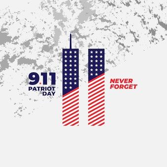 Banner del poster di sfondo del giorno del patriota 9.11