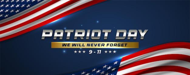 9.11 design del banner del giorno del patriota