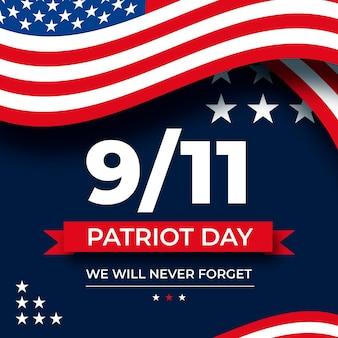 9.11 illustrazione del giorno del patriota