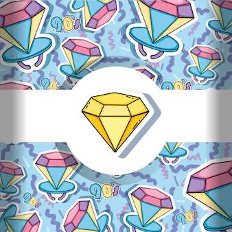 Cartoni animati sfondo anni '90 diamante e lecca-lecca