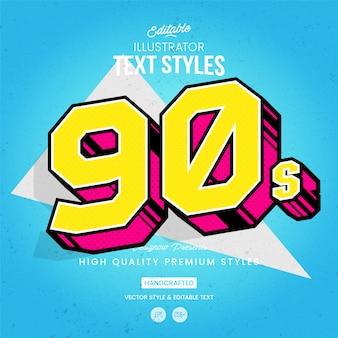 Stile del testo degli anni '90