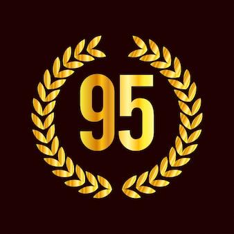 Distintivi di anniversario di 95 anni