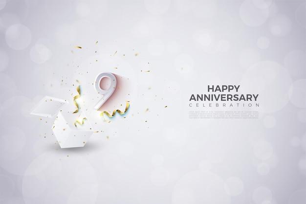 9 ° anniversario con numero