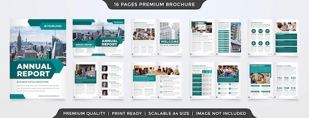 Modello di brochure bifold a4 stile premium