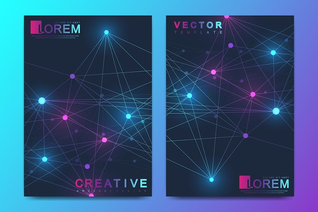 Formato a4 design futuristico di scienza e tecnologia