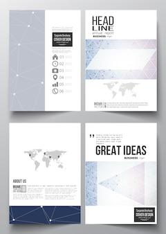Modelli a4 per brochure, flyer, report