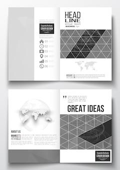 Modelli a4 per brochure Vettore Premium