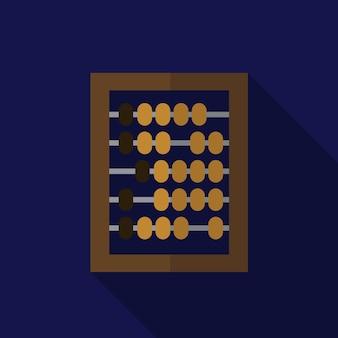 Abaco icona piana illustrazione vettoriale isolato segno simbolo