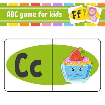Schede flash abc alfabeto per bambini lettere di apprendimento