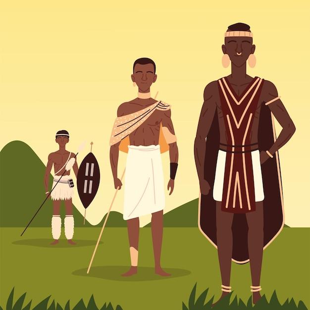 Uomini africani aborigeni