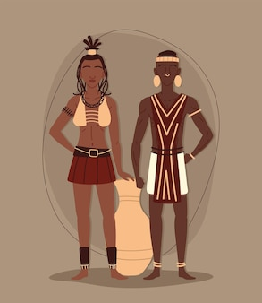 Coppia tribale aborigena