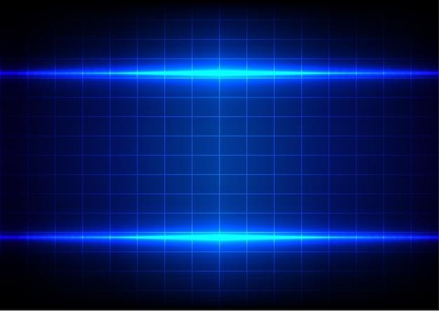 Illuminazione blu absract e tavolo su sfondo blu