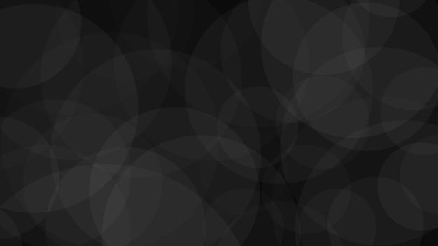 Sfondo astratto di cerchi traslucidi in colori neri