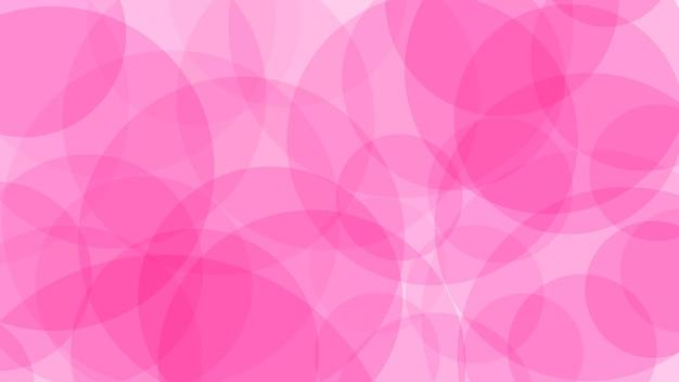 Sfondo astratto di cerchi traslucidi in colori rosa