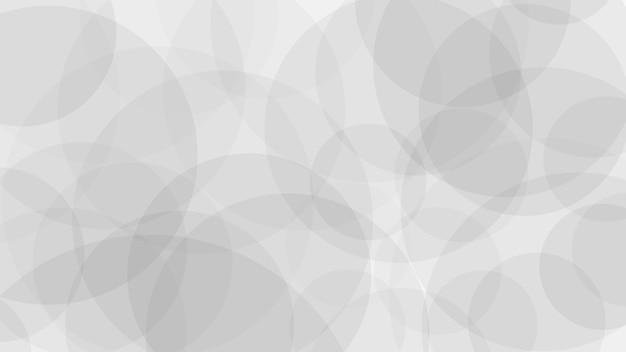 Sfondo astratto di cerchi traslucidi in colori bianchi