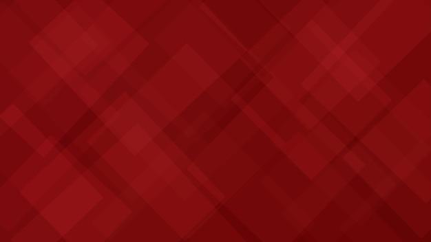 Sfondo astratto di quadrati o rombi traslucidi in colori rossi
