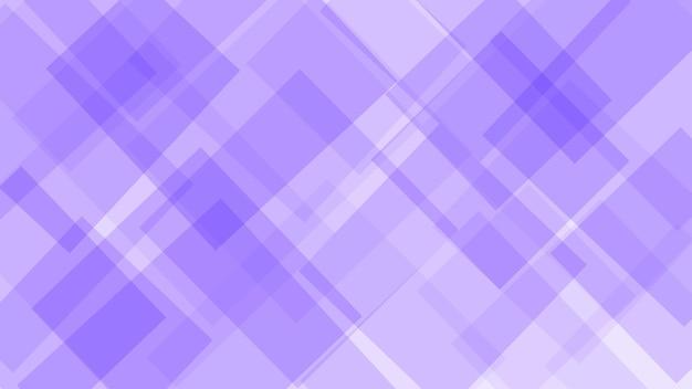 Sfondo astratto di quadrati o rombi traslucidi in colori viola