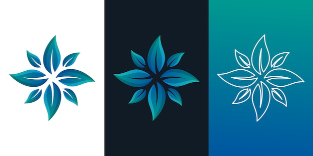 Logo floreale abstrack