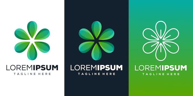 Design del logo foglia abstrack