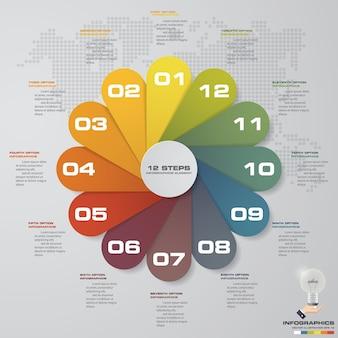Elementi di infographics del grafico di punti astratti 12
