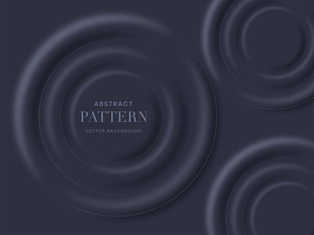 Cerchi astratti 3d rendono lo sfondo in colore grigio.