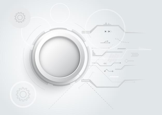 Fondo astratto di progettazione 3d con struttura del circuito di linea e punto di tecnologia. ingegneria moderna, futuristico, concetto di comunicazione scientifica. illustrazione vettoriale
