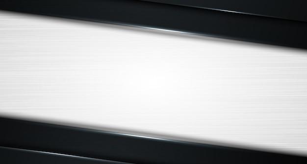 Strato di sfumatura nero e grigio diagonale astratto 3d