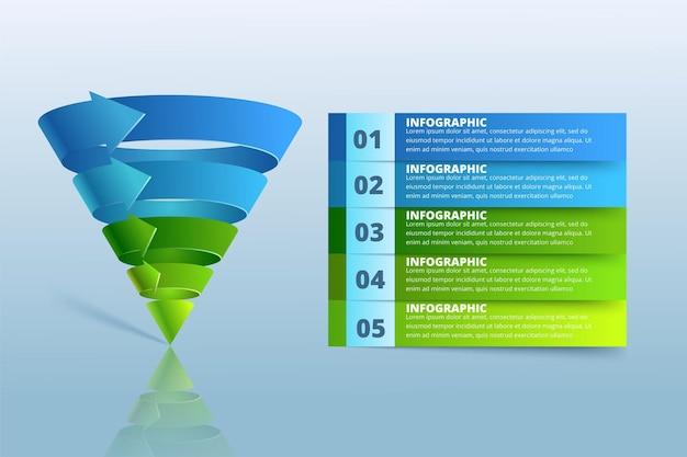 Illustrazione digitale astratta 3d infografica