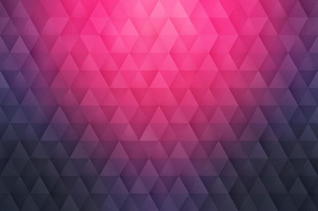 Fondo triangolare geometrico astratto 3d