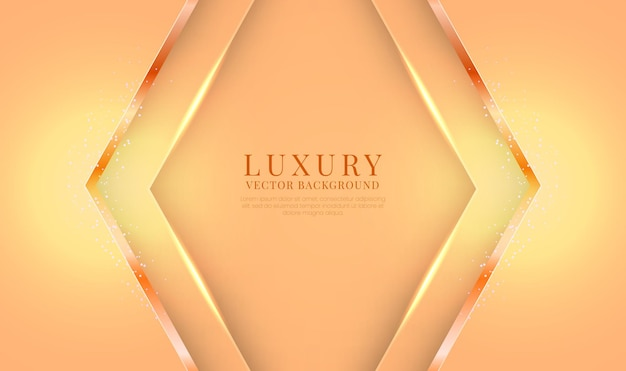 Astratto sfondo arancione di lusso 3d con effetto freccia metallica lucida