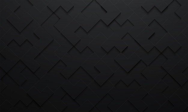 Fondo astratto del modello del quadrato nero di vettore di struttura 3d