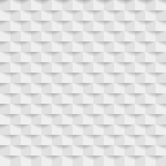 Fondo geometrico bianco 3d astratto con ombra