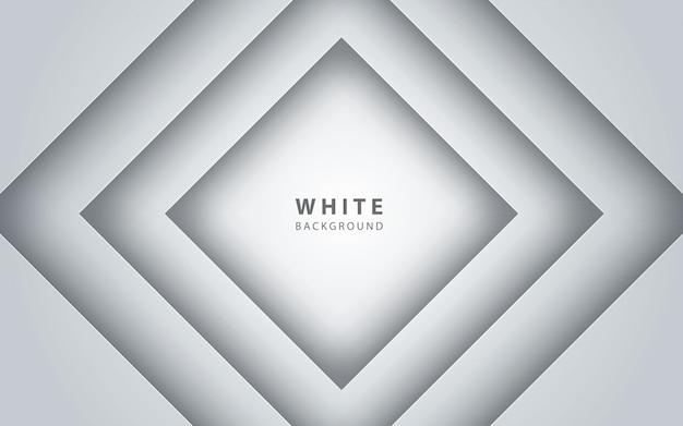 Priorità bassa astratta del papercut del quadrato bianco 3d
