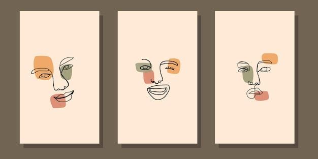 Manifesto boho del fronte della linea moderna di arte astratta della metà del secolo estetico astratto