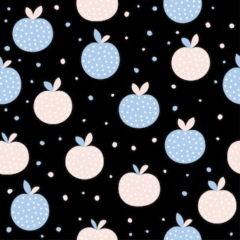 Fondo senza cuciture astratto della mela. artigianato infantile fatto a mano per biglietti di design, menu bar, carta da parati, album regalo estivo, album di ritagli, carta da regalo per le vacanze, tessuto, stampa di borse, t-shirt ecc.