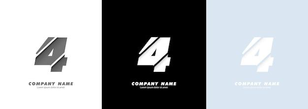 Logo numero 4 di arte astratta. disegno rotto.