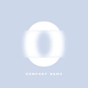 Logo di numeri 0 di arte astratta. glassmorfismo. carattere in stile sfocato, design tipografico, lettere e numeri dell'alfabeto. design del carattere sfocato, alfabeto in stile focalizzato e sfocato. vettore