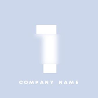 Logo di numeri 1 di arte astratta. glassmorfismo. carattere in stile sfocato, design tipografico, lettere e numeri dell'alfabeto. design del carattere sfocato, alfabeto in stile focalizzato e sfocato. illustrazione vettoriale