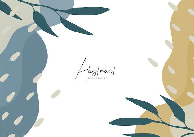 Modelli di arte astratta con elementi floreali e geometrici. sfondo organico. adatto per post sui social media, app mobili, design di banner e web, annunci su internet. sfondi di moda vettoriale
