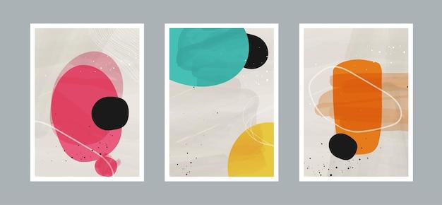 Sfondo di arti astratte con forme diverse per la decorazione della parete di cartoline o copertine di brochure