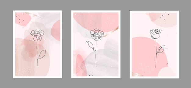 Sfondo di arti astratte con forme diverse per la decorazione della parete di cartoline o copertine di brochure Vettore Premium