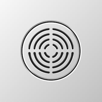 Altoparlante audio astratto dinamico con motivo a griglia perforata per concetti di design