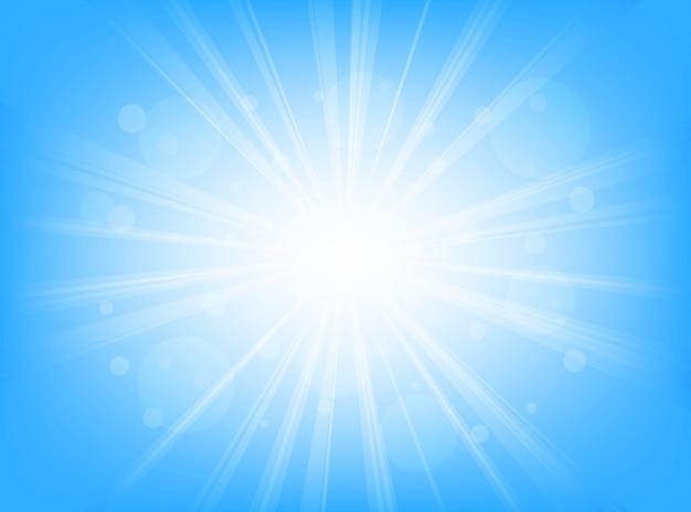 Sfondo astratto blu linee radiali sfondo Vettore Premium