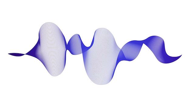 Contesto astratto con le linee di gradiente dell'onda blu su fondo bianco. sfondo di tecnologia moderna, design a onde. illustrazione vettoriale